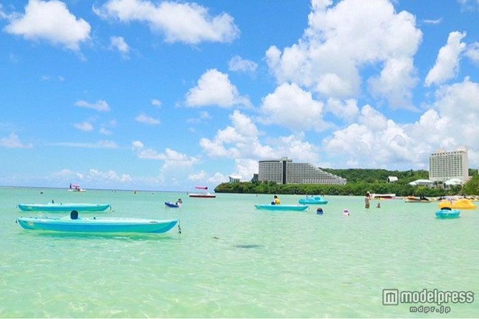 グアムの透明感溢れるビーチ(C)NTV