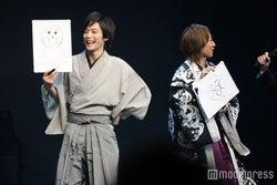 アンパンマンの絵を披露する久保田秀敏、 町田慎吾(C)モデルプレス
