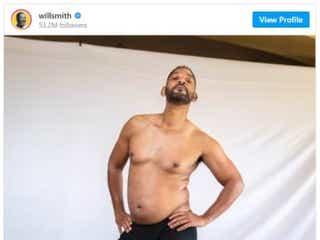 ウィル・スミス「史上最低の体形」を堂々公開