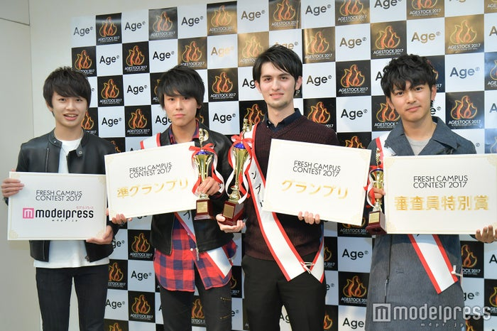 (左から)半田皓啓さん、伊藤セナさん、栗原海志瑠さん、池田泰英さん(C)モデルプレス