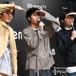 当選者を探す濱田龍臣、板垣瑞生、古川雄輝 (C)モデルプレス
