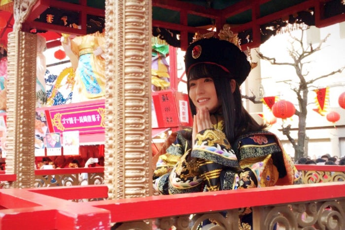 皇帝パレードに出演した長濱ねる(提供写真)