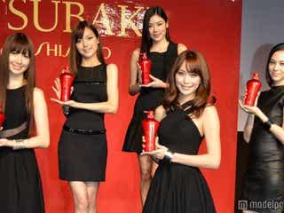 蛯原友里、水原希子、AKB48小嶋陽菜が美の競演 「TSUBAKI」新ミューズに