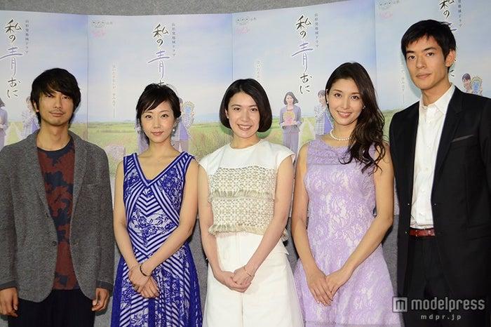 (左から)眞島秀和、木南晴夏、村上絵梨、橋本マナミ、中島歩