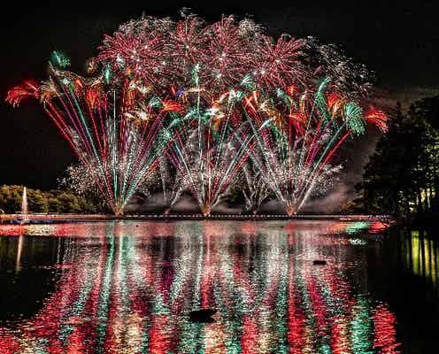 栃木「りんどう湖花火大会」スターマイン&幻想的な水上花火など3,500発