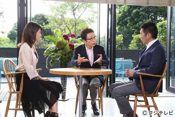 (左から)加藤綾子、古舘伊知郎、宮根誠司(C)フジテレビ