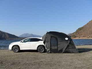 雨も虫も入ってこない!車とぴったり連結できるテントなら車中泊が快適に楽しめる