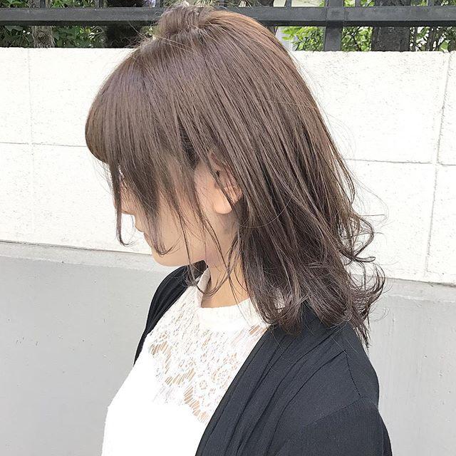 髪型 ミディアム ぽっちゃり 代 40