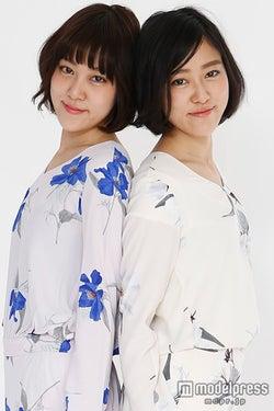 3年ぶりテレビ出演を果たした双子タレント矢敷真帆・梨紗姉妹/画像提供:所属事務所【モデルプレス】
