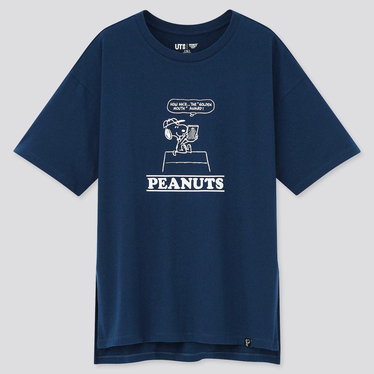 ユニクロ UNIQLO UT Tシャツ ユーティー スヌーピー ピーナッツ SNOOPY PEANUTS ヴィンテージ VINTAGE コラボ 新作 トップス おすすめ レディース 女性 ブルー 青 ネイビー