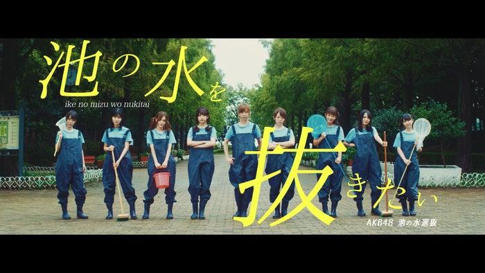 AKB48 池の水選抜「池の水を抜きたい」MVより(C)AKS/キングレコード