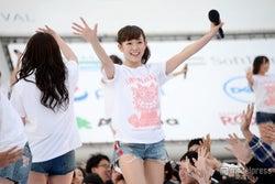 「ちゅらイイGIRLS UP!ステージ」でライブ出演したNMB48の渡辺美優紀