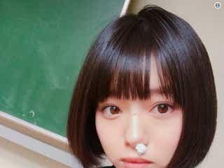 NMB48市川美織「何してても可愛い」制服姿のお茶目なショットに反響