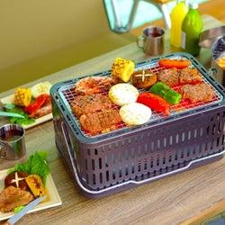 約90%も煙をカットした七輪!肉も魚もふっくら焼き上がり、机やレジャーシートの上にも安全に置ける
