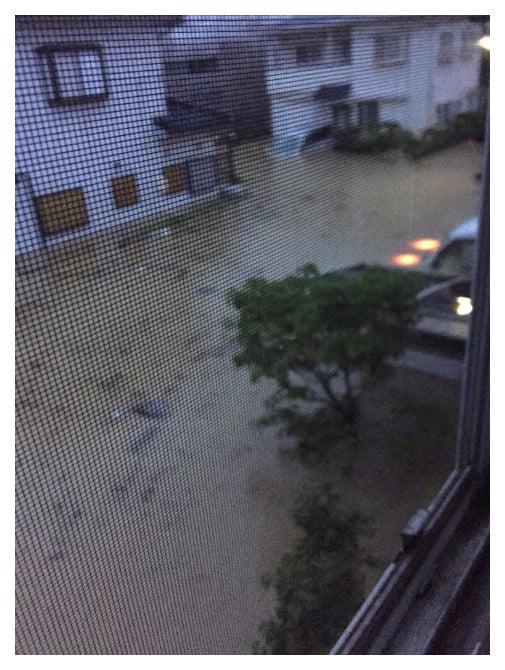 豪雨被害の様子/ブルゾンちえみオフィシャルブログ(Ameba)より