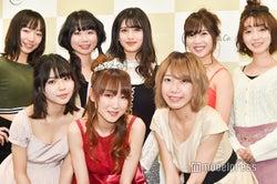 (左上から時計回りに)有明ゆな、大沢風琴、御子柴かな、水川華奈、あやんぬ、Azumi、今泉史、堀井柚奈 (C)モデルプレス