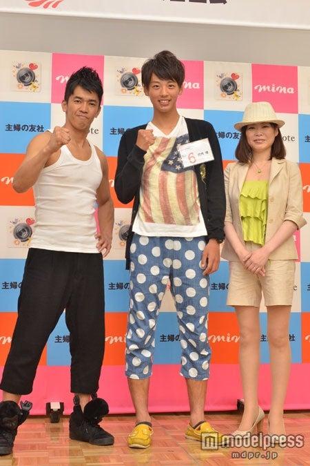 左から:武井壮、竹内崚さん、だいたひかる