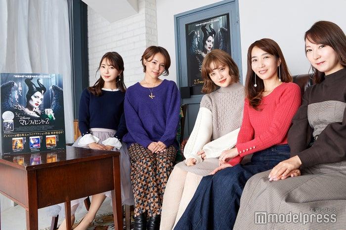 (左から)中田絵里奈さん、小松あやさん、金光みり愛さん、斉藤ゆかりさん、能美黎子さん(C)モデルプレス