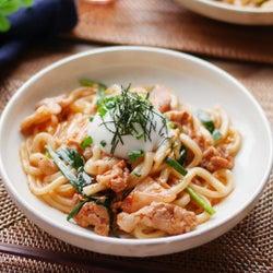 【すぐ麺】レンジで簡単「旨辛豚キムチうどん」レシピ