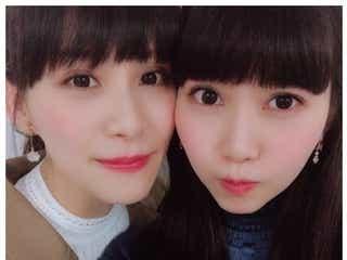 """""""美人姉妹""""Perfumeあ~ちゃん&9nine西脇彩華、密着2ショット公開「似てる」と反響"""