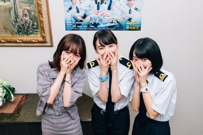 (左から)前田希美、飯豊まりえ、武田玲奈(写真提供:MBS)