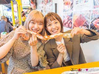 柴田紗希&古関れん、マグロステーキ・タラバガニ・生牡蠣…築地で食べまくる