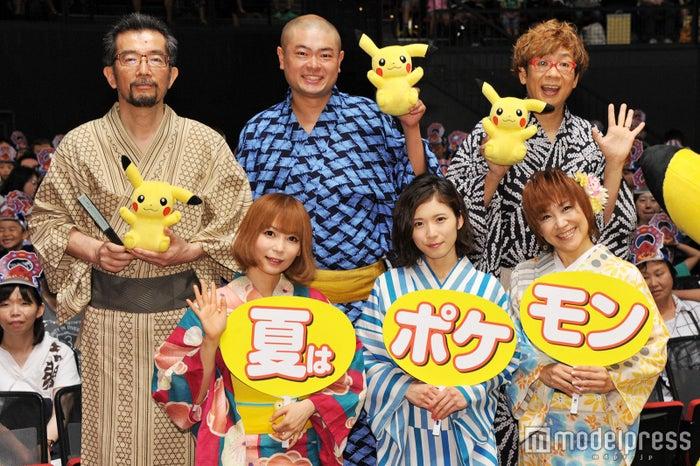 (上段左から)湯山邦彦監督、あばれる君、山寺宏一(下段左から)中川翔子、松岡茉優、松本梨香(C)モデルプレス