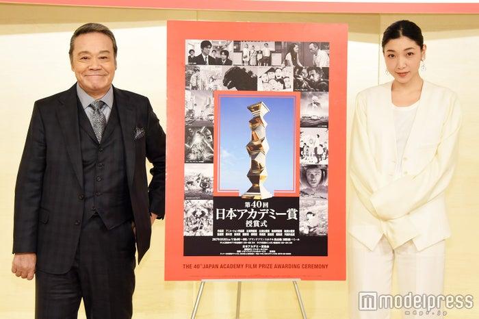 「第40回日本アカデミー賞」優秀賞発表(左から)西田敏行、安藤サクラ(C)モデルプレス