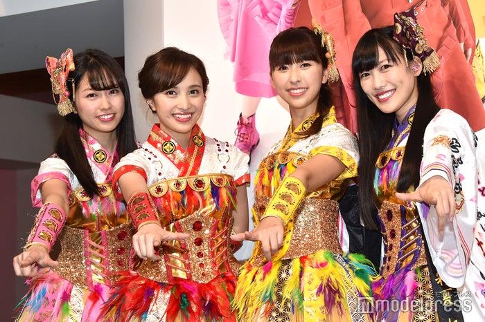 ももいろクローバーZ(左から)佐々木彩夏、百田夏菜子、玉井詩織、高城れに(C)モデルプレス