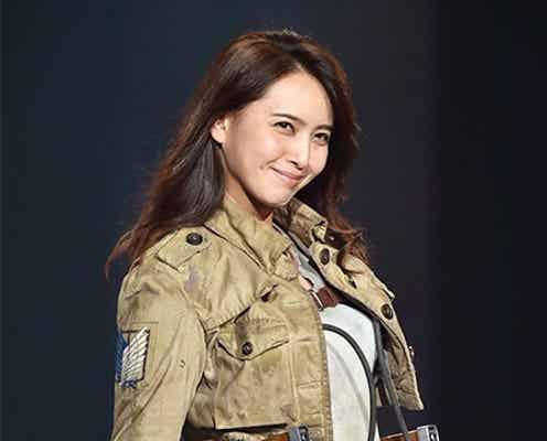 加藤夏希「進撃の巨人」コスプレ姿を披露 調査兵団になりきり<神コレ2015A/W>