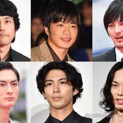 (左上から時計回り)松山ケンイチ、田中圭、塚本高史、水嶋ヒロ、賀来賢人、高良健吾(C)モデルプレス
