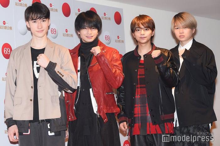 Sexy Zone(左から)マリウス葉、中島健人、佐藤勝利、菊池風磨(C)モデルプレス