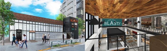 天井が6mと開放的な「FOOD HALL BLAST!TOKYO」のイメージ/画像提供:K&BROTHERS