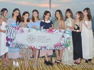 宮城舞・島袋聖南ら美女のパーティースタイル 感激の涙も<Natural Beauty Camp 2017 in Singapore>