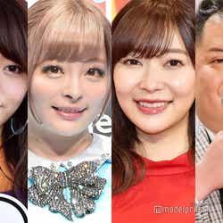 (左から)峯岸みなみ、きゃりーぱみゅぱみゅ、指原莉乃、小杉竜一(C)モデルプレス