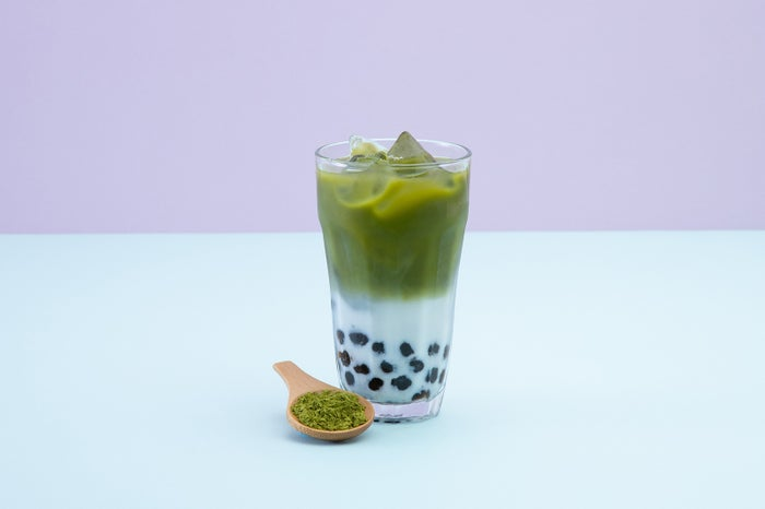 タピオカ抹茶ラテ702円/画像提供:CHA NUNG