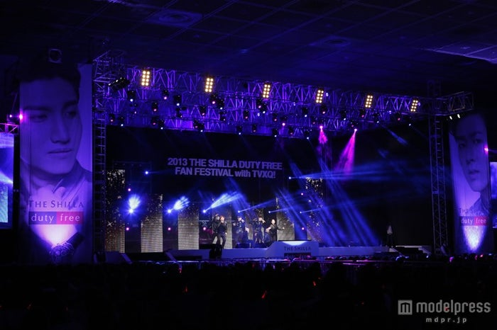 「2013 THE SHILLA DUTY FREE FAN FESTIVAL with TVXQ!」の様子