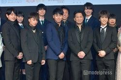 (前列左から)青柳翔、白濱亜嵐、山下健二郎、EXILE HIRO、岩田剛典(C)モデルプレス