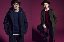 三四郎&バイきんぐ小峠、本格モデルデビュー姿がイケメン 笑い封印のクールな着こなし