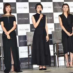 (左から)小泉里子、本上まなみ、美優(C)モデルプレス