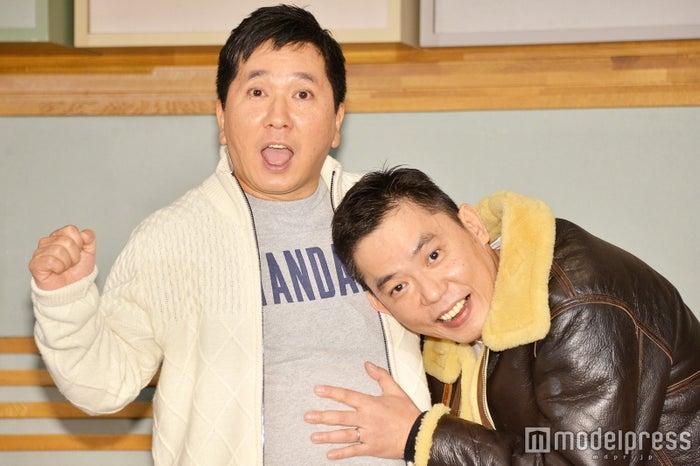 会見を行った爆笑問題田中裕二と太田光 (C)モデルプレス