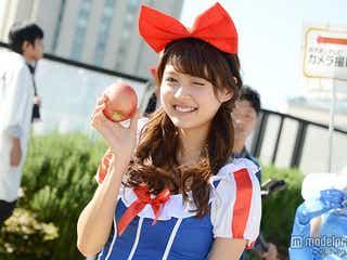 """「Ray」松元絵里花、可愛すぎる""""白雪姫""""仮装を披露 ハロウィーンパレードで歓声浴びる"""