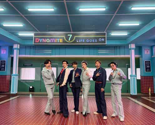 "BTS「レコ大」で新曲日本初披露 ""7""強調の「Dynamite」演出も話題に"