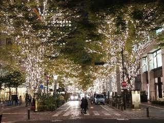 「丸の内イルミネーション2019」冬の街にシャンパンゴールドイルミ100万球輝く