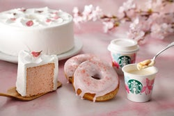 スタバ、春を先取るSAKURAフード登場 ピンクの可愛いスイーツに胸キュン