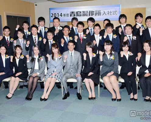 唐沢寿明、TBS入社式にサプライズ登場 新入社員を激励
