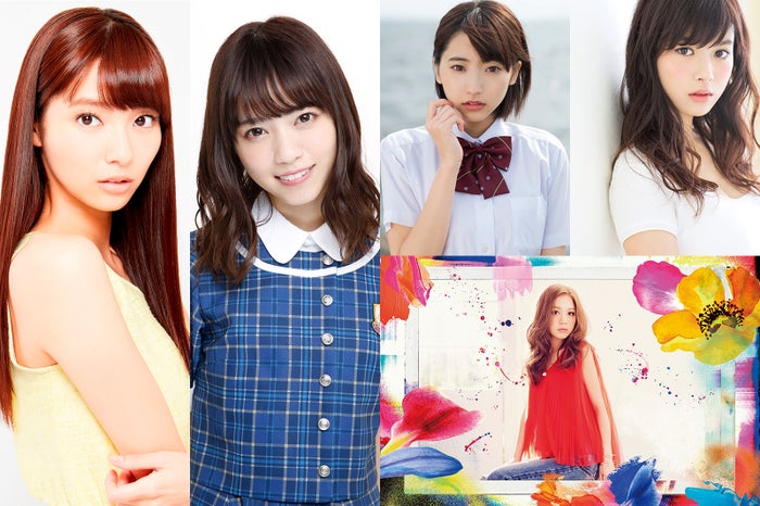 「GirlsAward 2016 A/W」(左から)新川優愛、西野七瀬(右上から)馬場ふみか、武田玲奈(右下)西野カナ