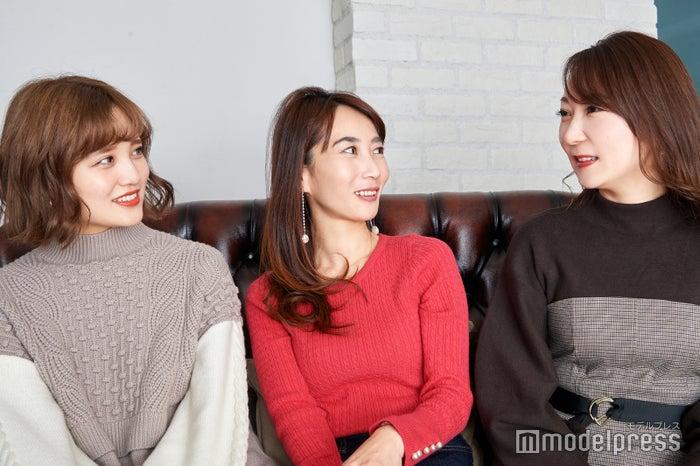 (左から)金光みり愛さん、斉藤ゆかりさん、能美黎子さん(C)モデルプレス