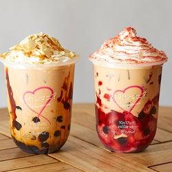 「モトカレマニア」コラボタピオカが渋谷に、苺&プリン風味の2種類