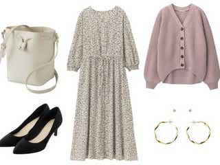 【GU】着るだけで即上品見え!高見え花柄ワンピースでつくる、春のデートコーデ